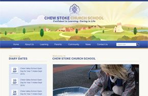 Screenshot of the Chew Stoke Church School website