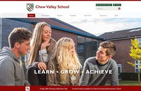 Screenshot of the Chew Valley School website