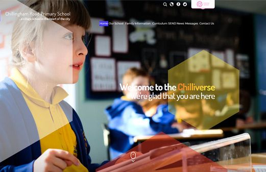 Screenshot of the Chillingham Road Primary website