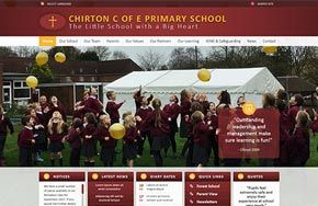 Screenshot of the Chirton School website