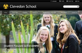 Screenshot of the Clevedon School website