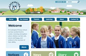 Screenshot of the Cockington Primary School website