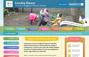 Screenshot of the Combe Down Primary School website