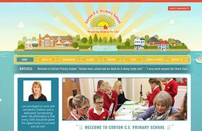 Screenshot of the Corton Church of England Primary School website