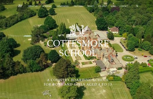Click to view school website design for Cottesmore School