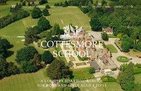 Screenshot of the Cottesmore School website