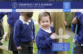 Screenshot of the Cranfield Church of England Academy website