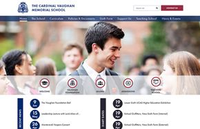 Screenshot of the Cardinal Vaughan Memorial School website
