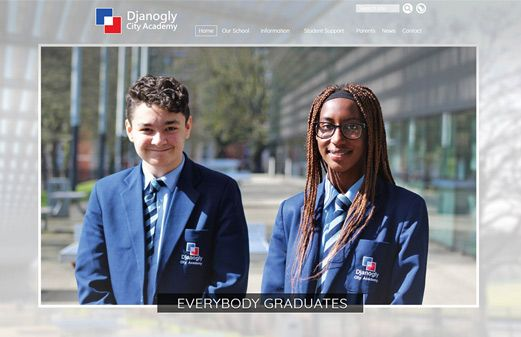 Screenshot of the Djanogly City Academy website