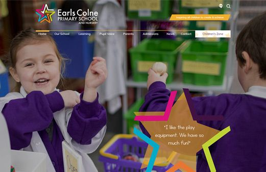 Click to view school website design for Earls Colne Primary School and Nursery