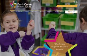 Screenshot of the Earls Colne Primary School and Nursery website