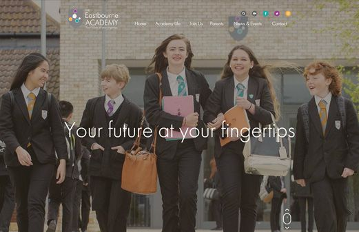 Screenshot of the Eastbourne Academy website