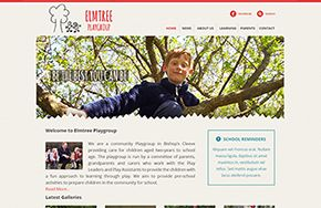 Screenshot of the Elmtree Playgroup website