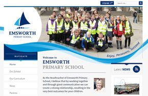 Screenshot of the Emsworth Primary School website