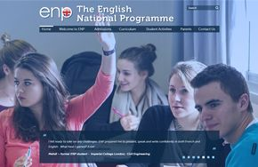 Screenshot of the The English National Programme website