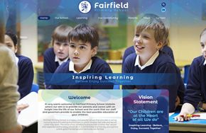Screenshot of the Fairfield Primary School website