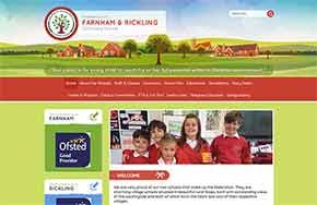 Screenshot of the Federation or Farnham & Rickling Schools website
