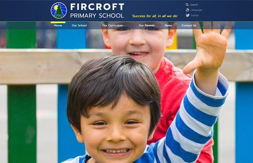 Screenshot of the Fircroft Primary School website
