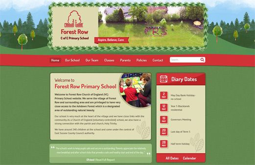 Screenshot of the Forest Row website