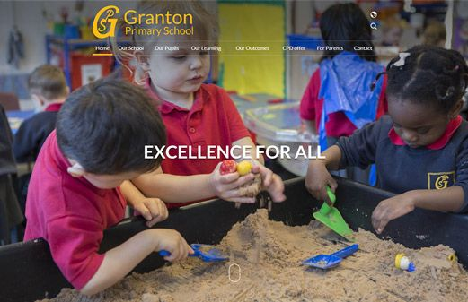 Click to view school website design for Granton Primary School