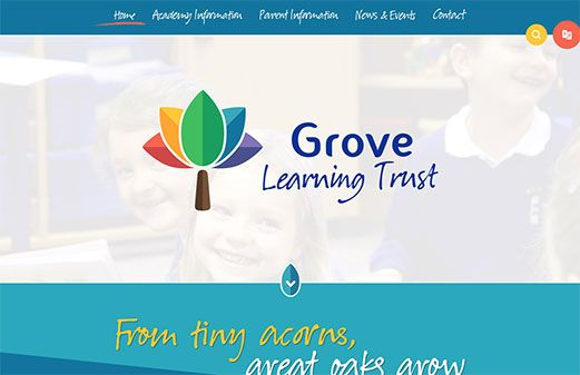 Screenshot of the Grove Learning Trust website