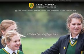 Screenshot of the Hadlow Rural Community School website