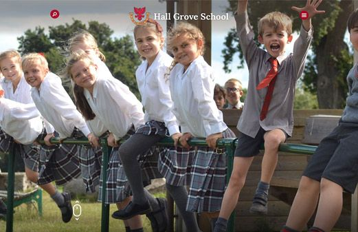 Click to view school website design for Hall Grove
