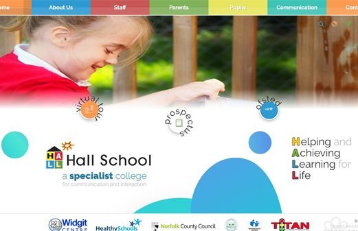 Click to view school website design for Hall School
