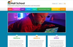 Screenshot of the Hall School website