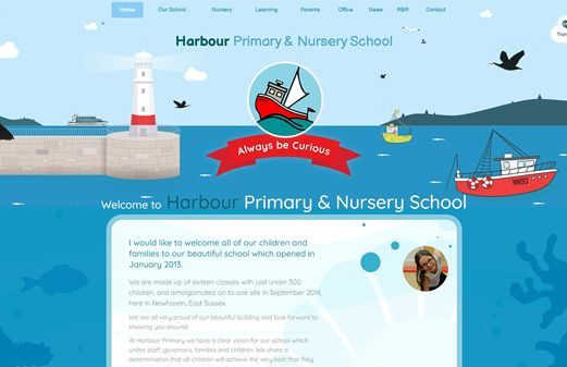 Screenshot of the Harbour Primary & Nursery School website