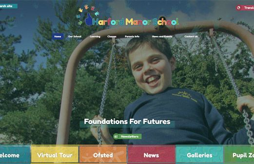 Click to view school website design for Harford Manor School