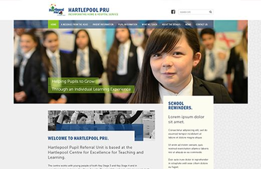 Click to view school website design for Hartlepool PRU