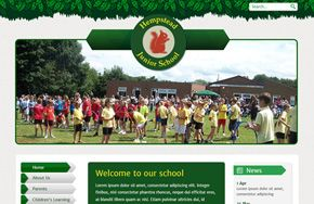 Screenshot of the Hempstead Junior School website
