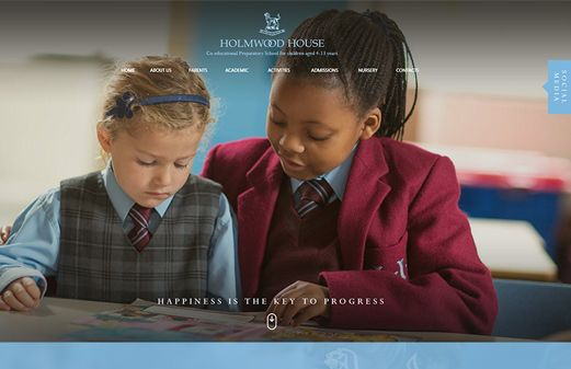 Click to view school website design for Holmwood House School