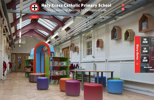 Screenshot of the Holy Cross R.C. Primary School website