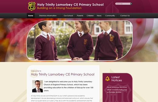 Click to view school website design for Holy Trinity Lamorbey