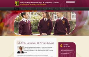 Screenshot of the Holy Trinity Lamorbey website