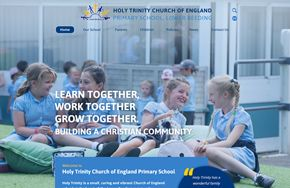 Screenshot of the Holy Trinity Church of England Primary School, Lower Beeding website