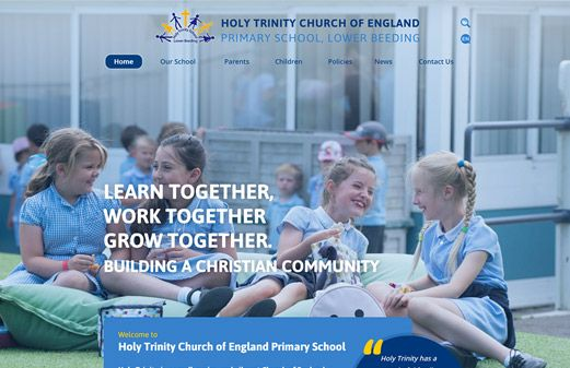 Click to view school website design for Holy Trinity Church of England Primary School, Lower Beeding