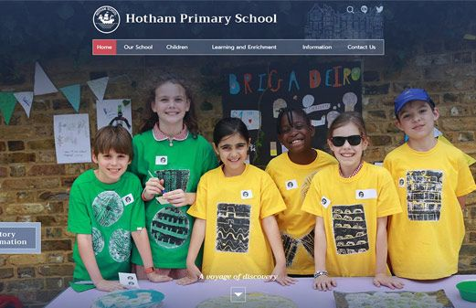 Screenshot of the Hotham Primary School website