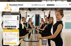 Screenshot of the Hounsdown School website