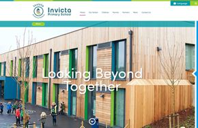 Screenshot of the Invicta Primary School website