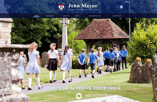 Click to view school website design for John Mayne Primary School