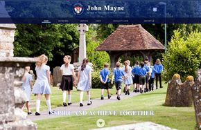 Screenshot of the John Mayne Primary School website