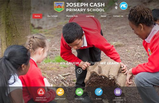 Click to view school website design for Joseph Cash Primary