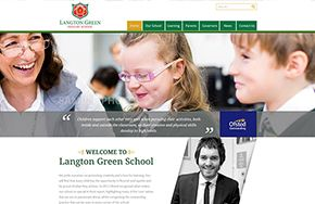 Screenshot of the Langton Green Primary School website