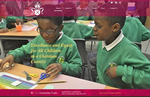 Screenshot of the LDBS Academies Trust website