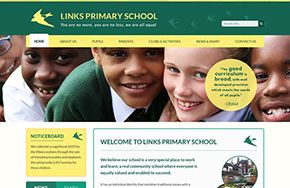 Screenshot of the Links Primary School website