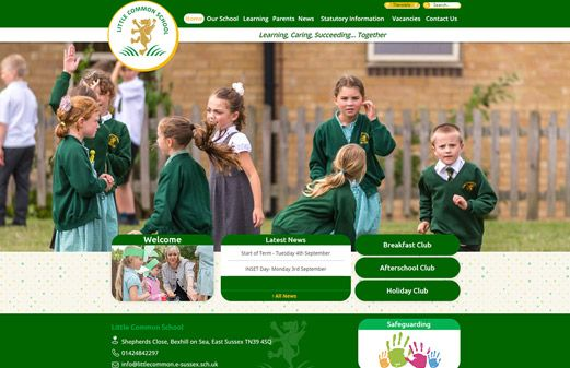 Screenshot of the Little Common School website