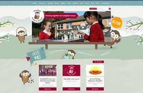 Screenshot of the Mayfield Primary & Nursery School website
